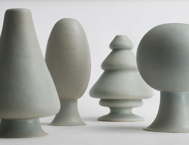 Keramiker Marianne Nielsen - Vasetræer, 2007, foto: Ole Akhøj